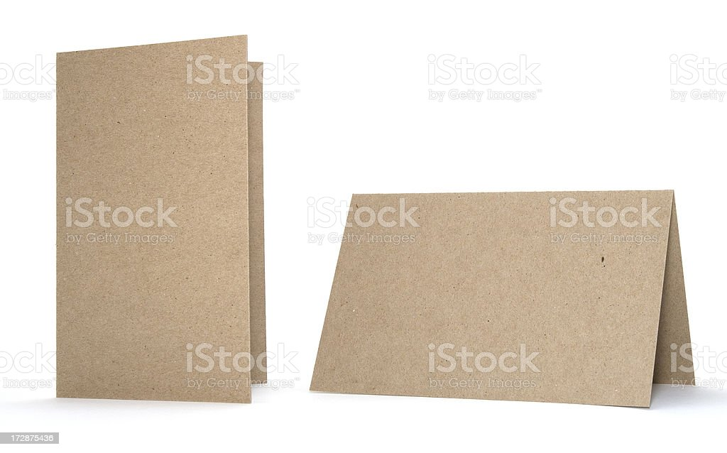 Chipboard Cards stock photo