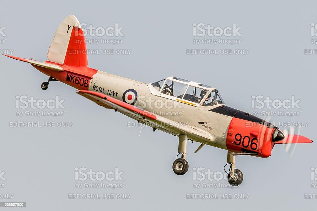 DHC Chipmunk vintage training aircraft stock photo