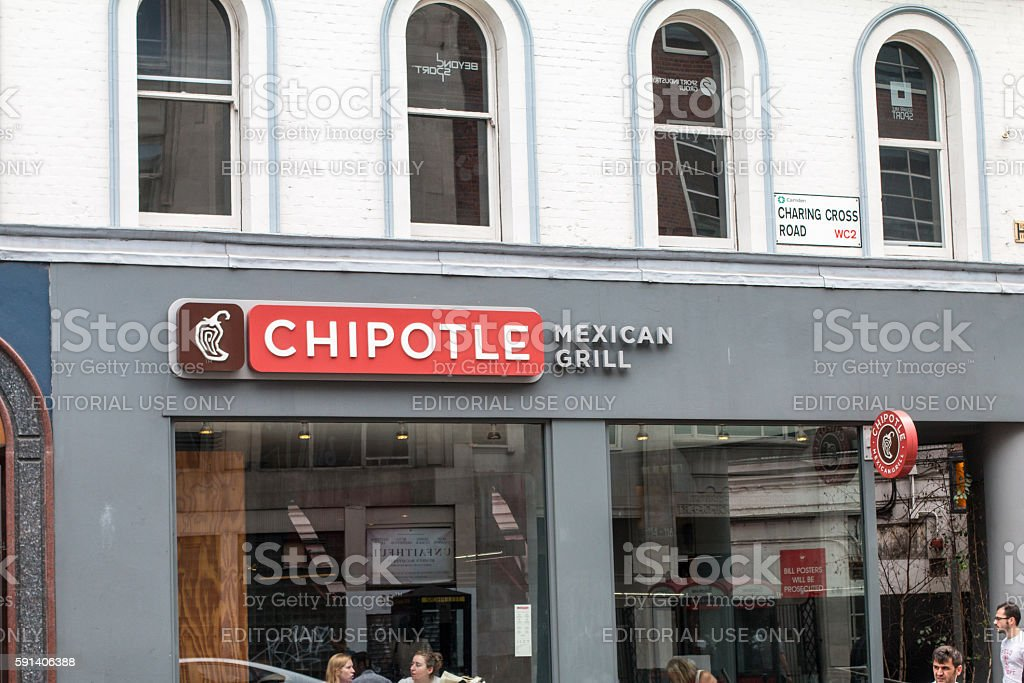 Chipotle in Charing Cross Road, London stock photo