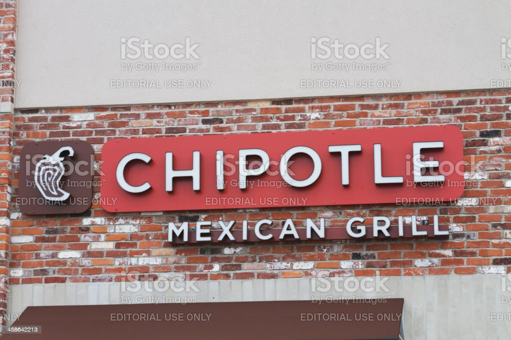 Chipotle Mexican Grill Logo Sign stock photo