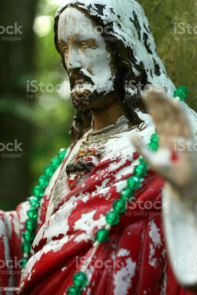 Chipped Paint Jesus, Vertical royalty-free stock photo