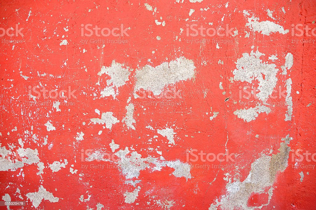 chipped paint wall red stock photo