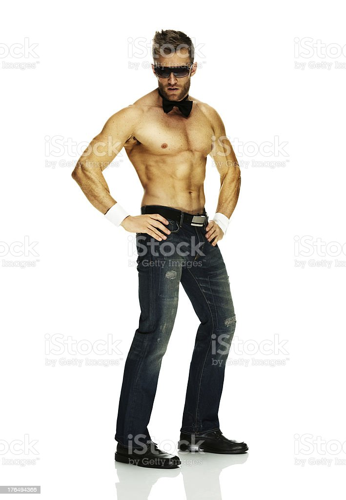 Chippendale male stripper royalty-free stock photo