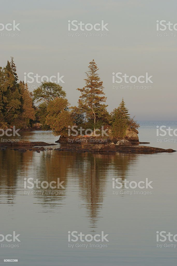Chippewa Harbor stock photo