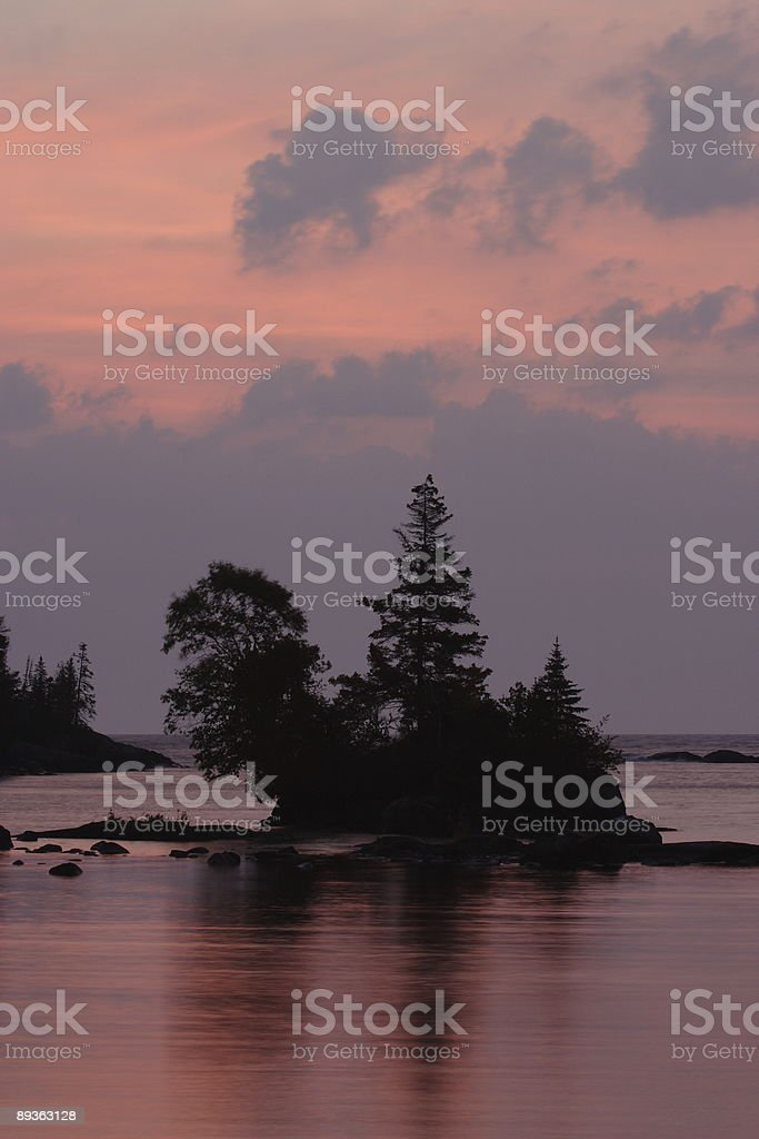 Chippewa Harbor Sunrise stock photo