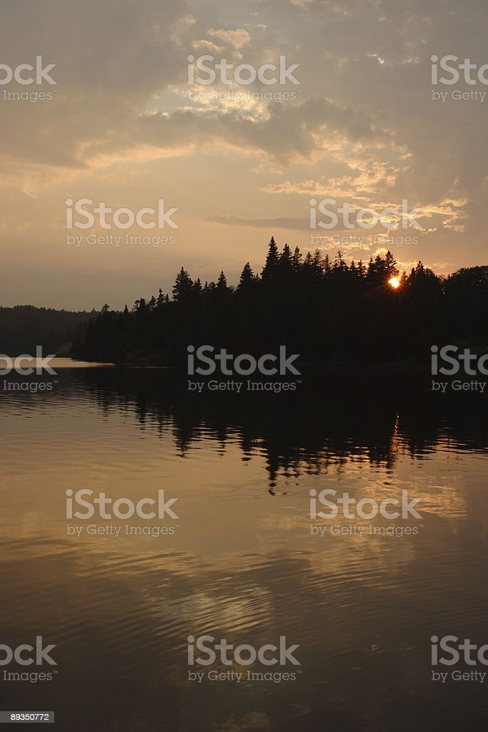Chippewa Harbor Sunset stock photo