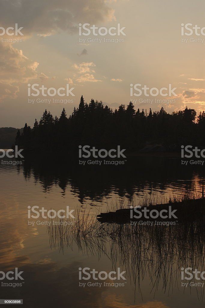 Chippewa Harbor Sunset stock photo