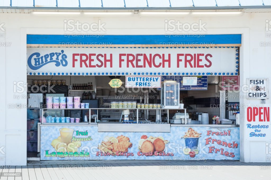 Chippy's at Point Pleasant Beach stock photo