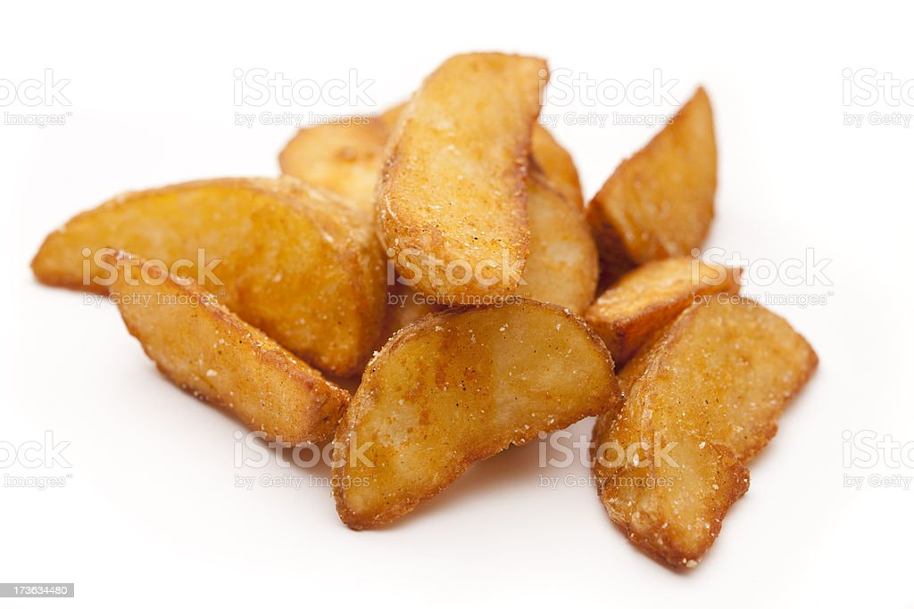 chips against white stock photo