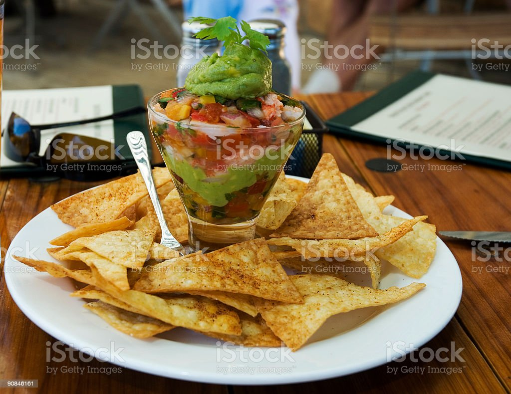 Chips and dip royalty-free stock photo
