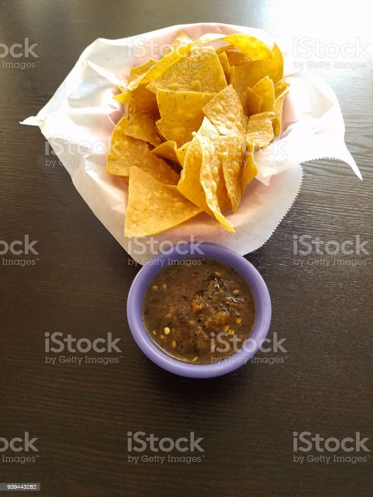 chips and salsa stock photo