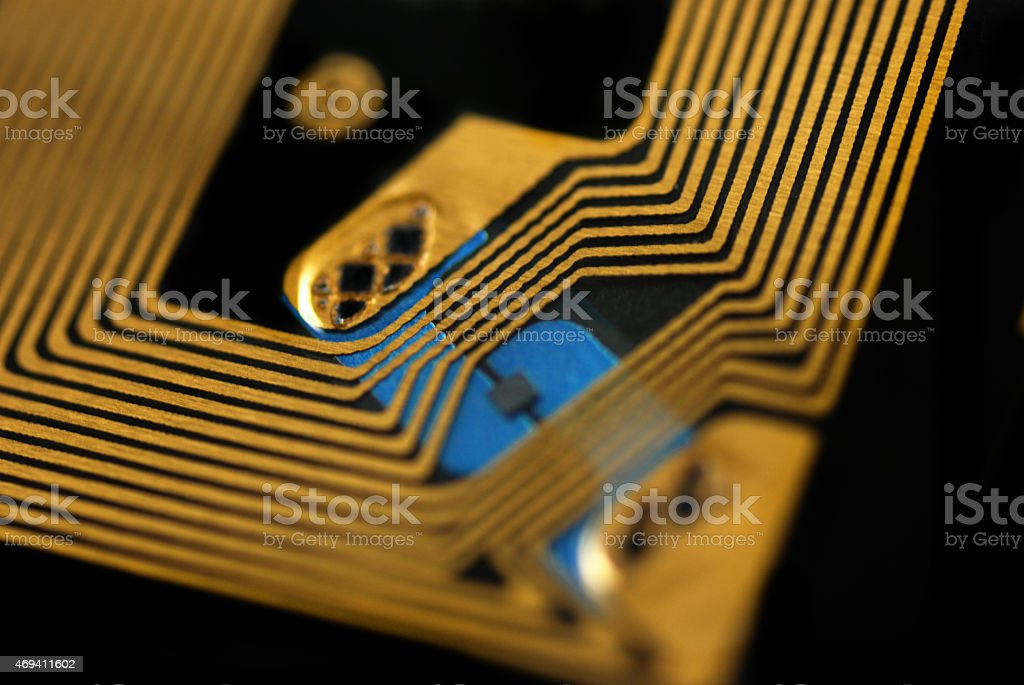 RFID chips and tags stock photo