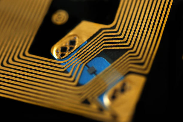 RFID chips and tags stock pictures of rfid tags used for tracking and identification purposes radio frequency identification stock pictures, royalty-free photos & images