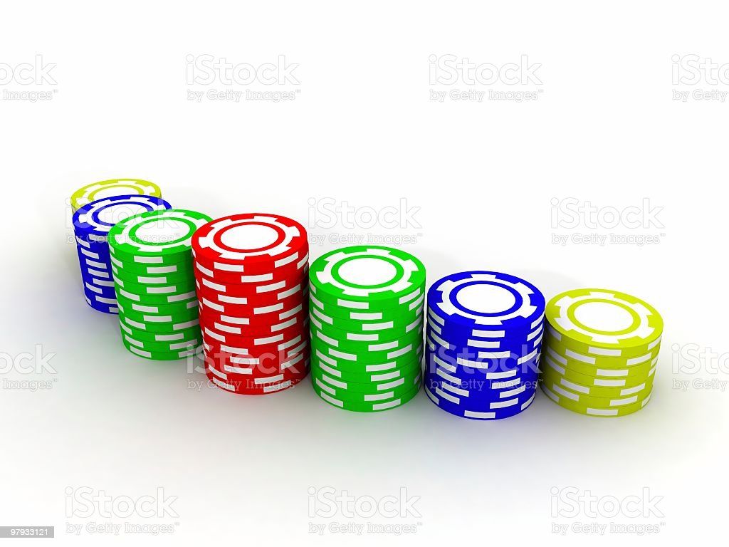 Chips casino royalty-free stock photo
