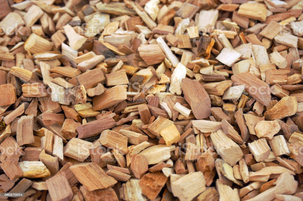 Chips for smoking. Apple tree stock photo