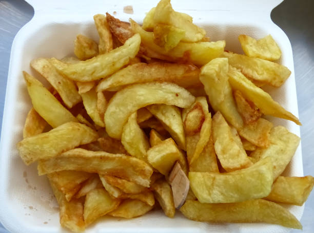 Chips from the seaside stock photo