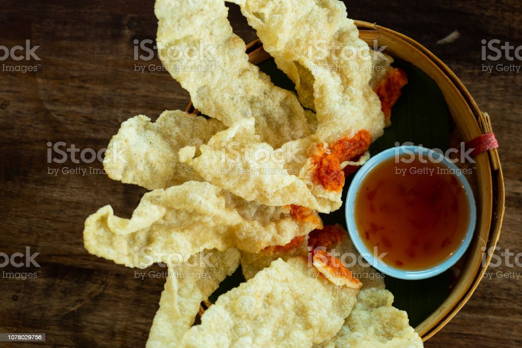 Chips in a white plate stock photo