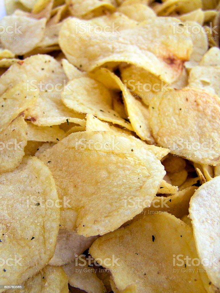 chips macro stock photo