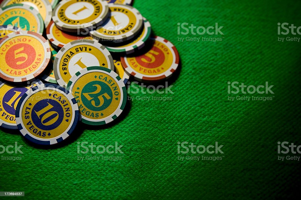 Chips on green royalty-free stock photo