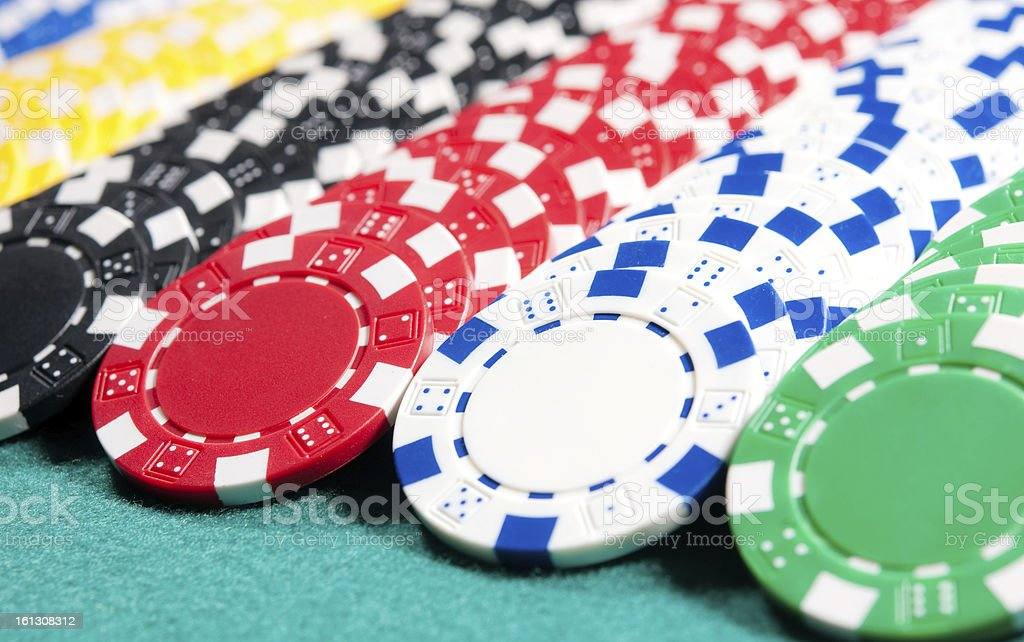 Chips on the casino's table royalty-free stock photo