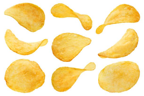 chips på vit - chips bildbanksfoton och bilder