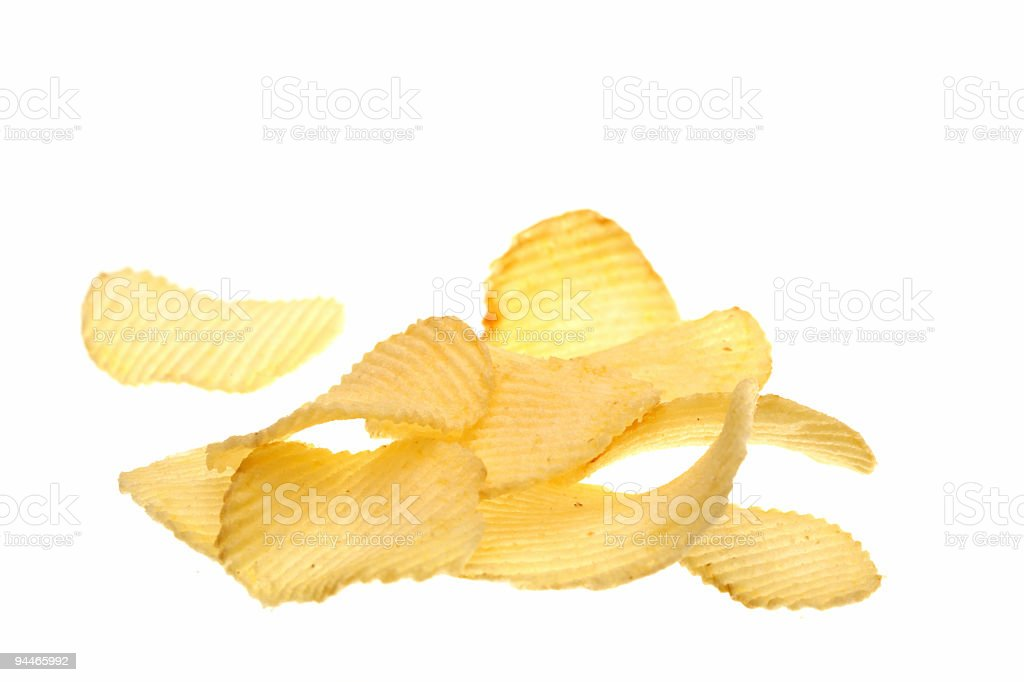 chips on white royalty-free stock photo