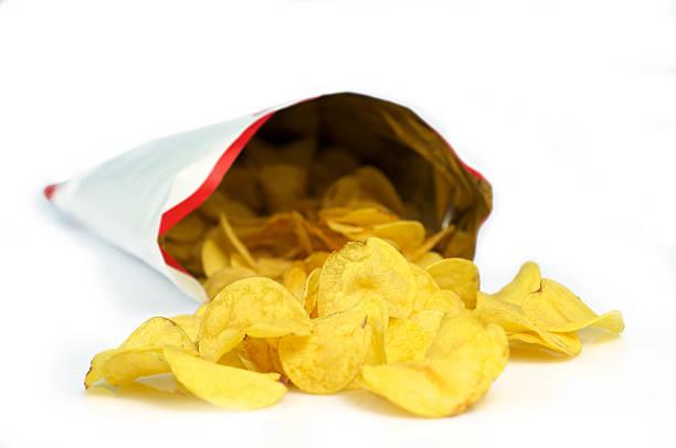 chips out bag - chips bildbanksfoton och bilder
