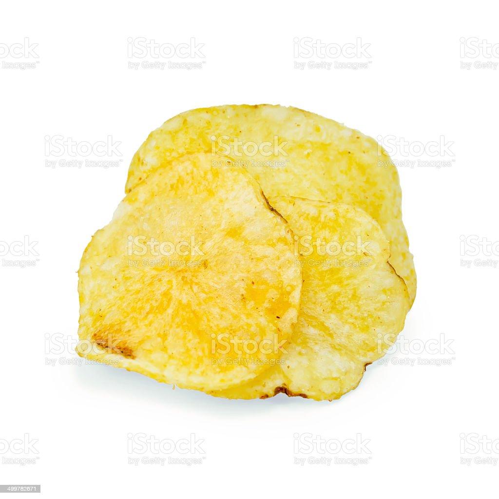 Chips potato pile royalty-free stock photo