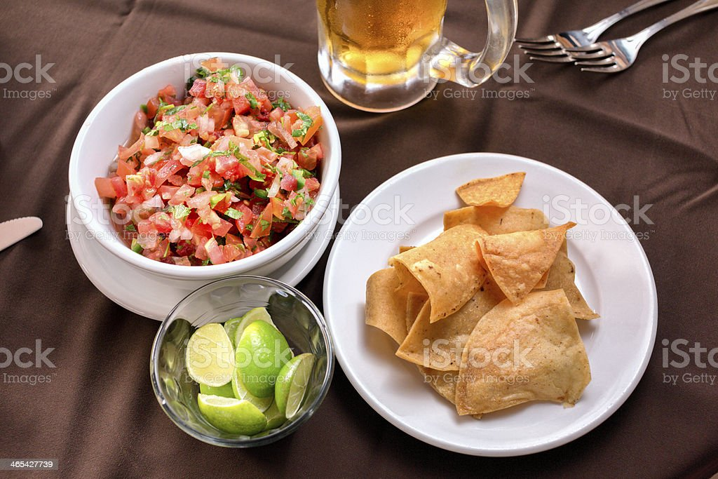 Chips Salsa And Beer Stock Photo Download Image Now Istock