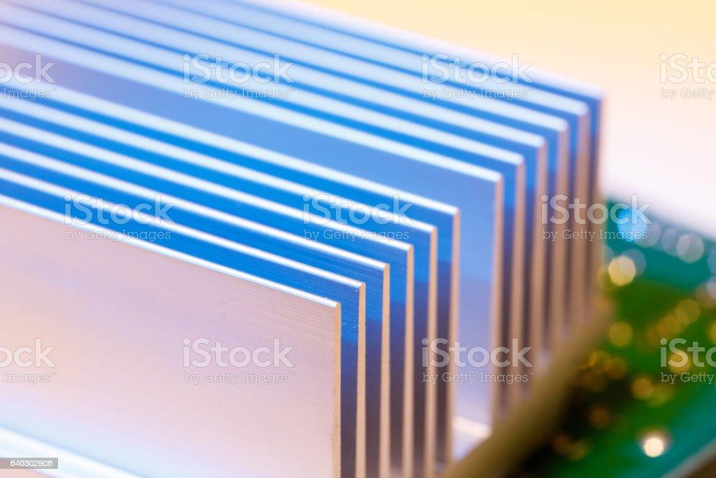 chipset heatsink stock photo