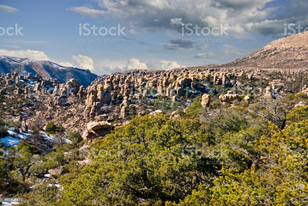 Field of Rhyolite Formations stock photo