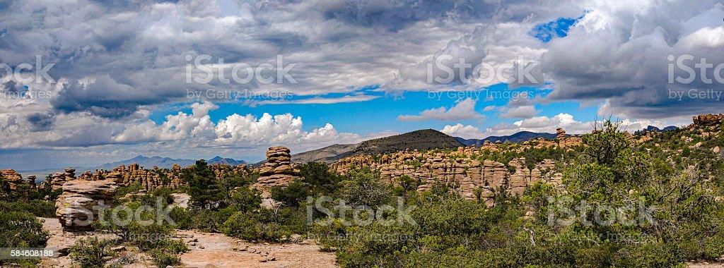 Chiricahua National Monument Panorama stock photo