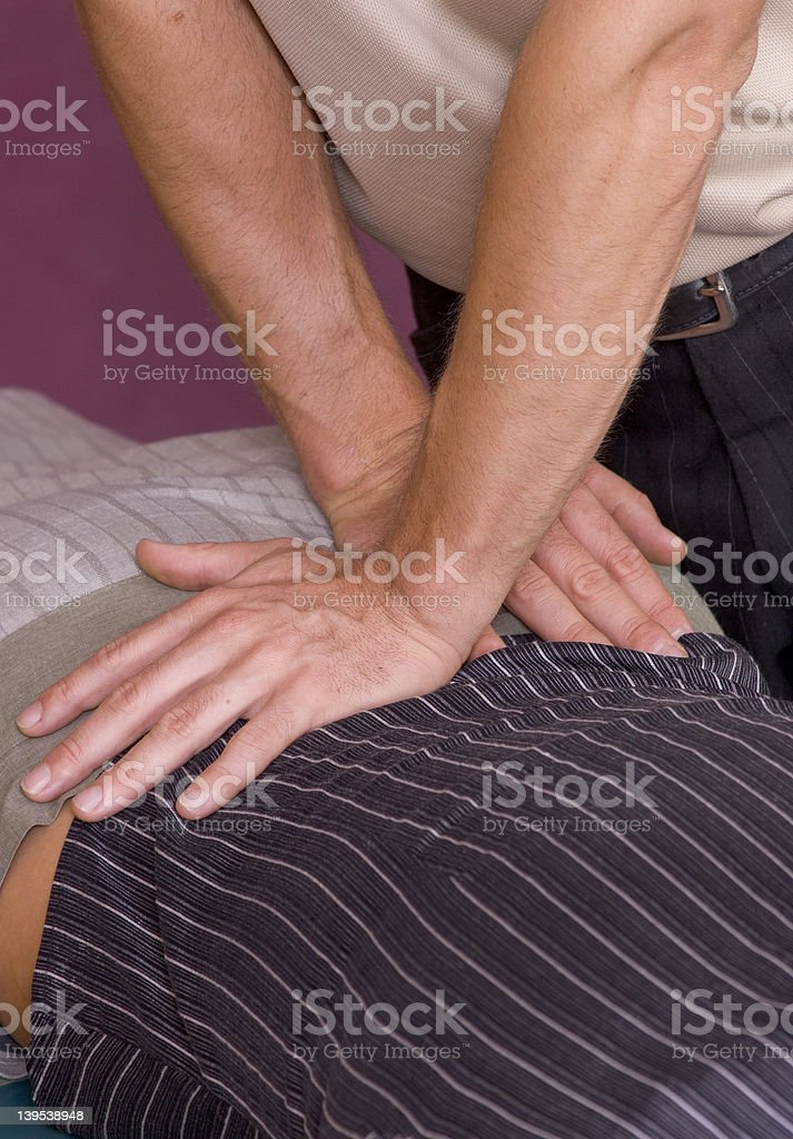 chiropractic adjustment II royalty-free stock photo