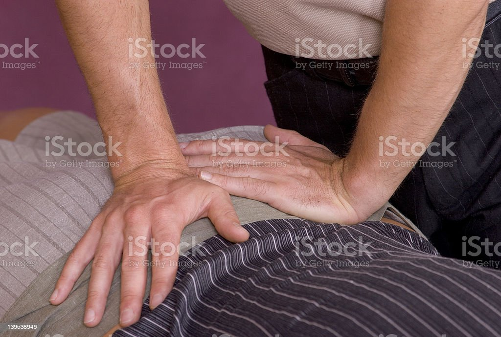 Chiropractic adjustment IV royalty-free stock photo
