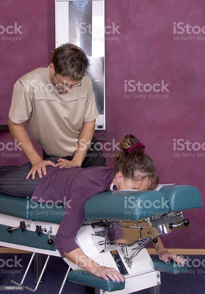 Chiropractic Adjustment VII royalty-free stock photo