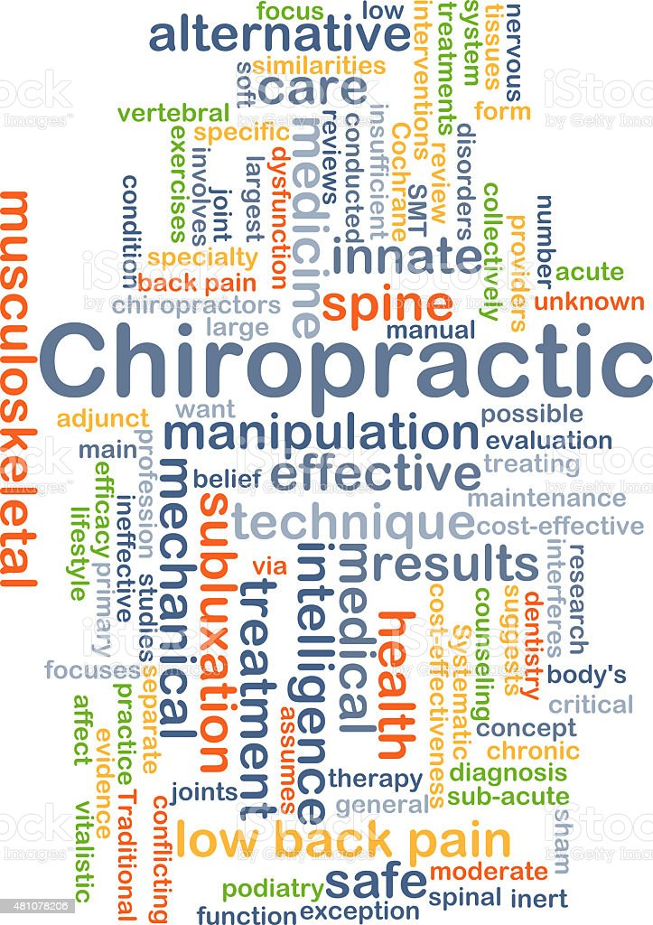 Chiropractic background concept stock photo