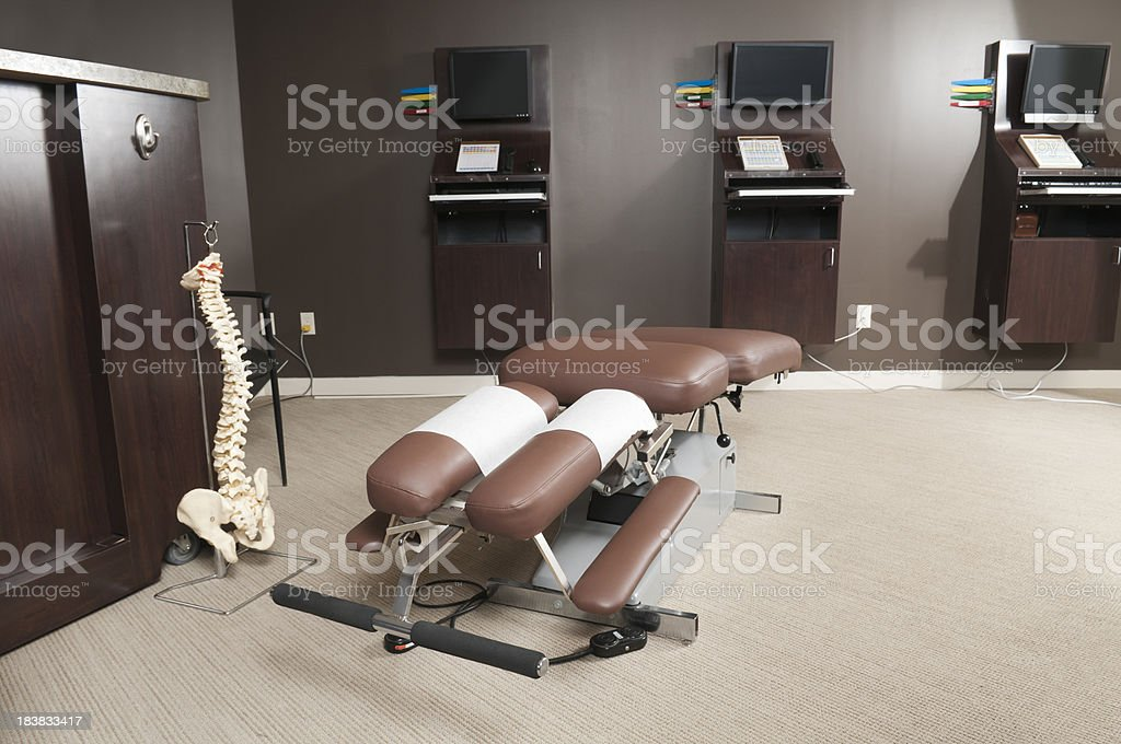 Chiropractic Table stock photo