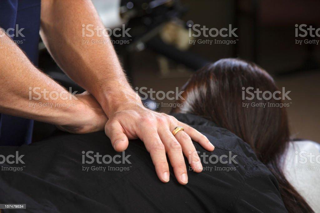 Chiropractor Patient stock photo