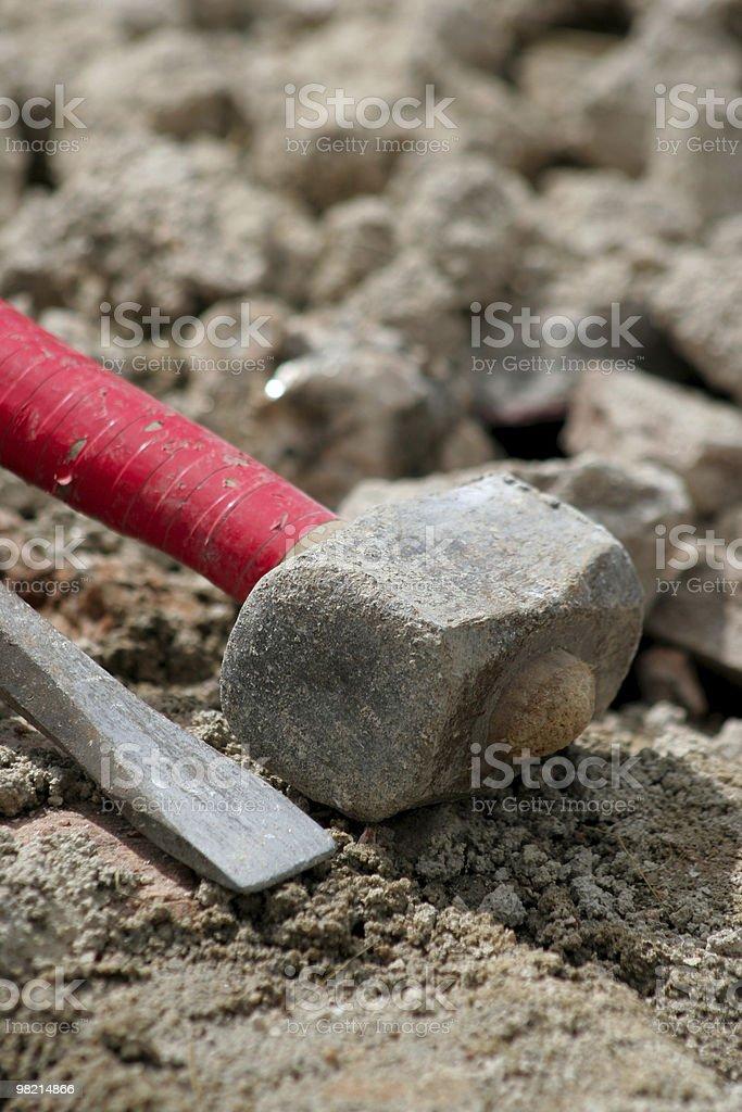 Scalpello e martello foto stock royalty-free