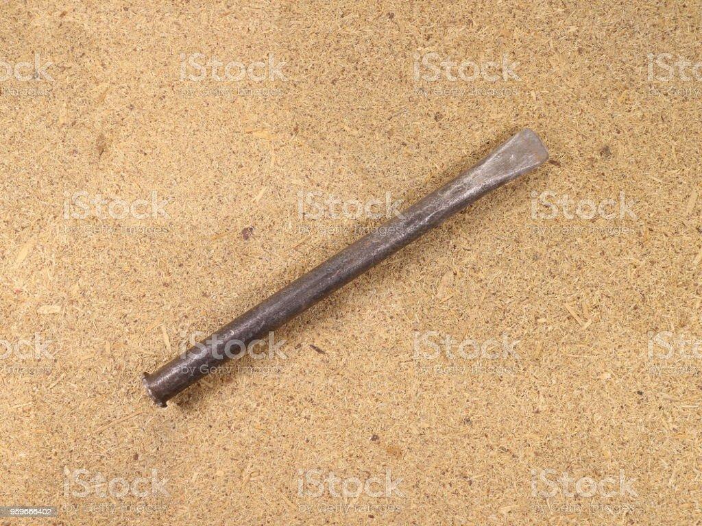 cincel en la pizarra - Foto de stock de Acero libre de derechos