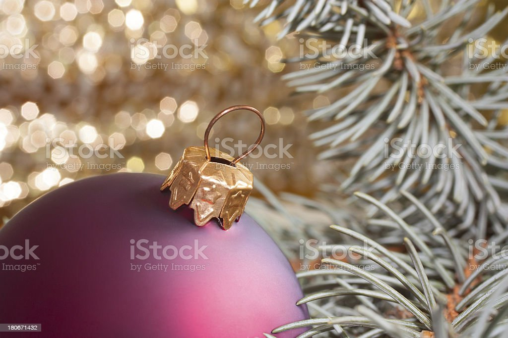 chistmas and ball royalty-free stock photo