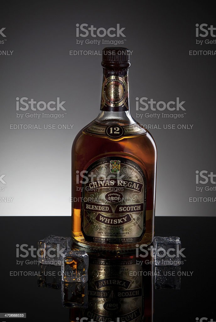 a229fa60d Chivas Regal Blended Scotch Whisky 12 years bottle - Stock image .