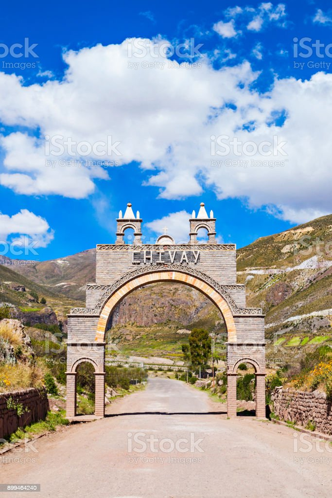 Chivay city, Peru stock photo