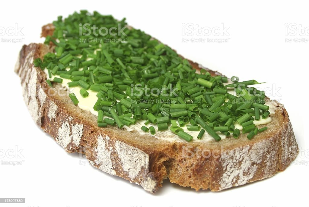Chive Sandwich royalty-free stock photo