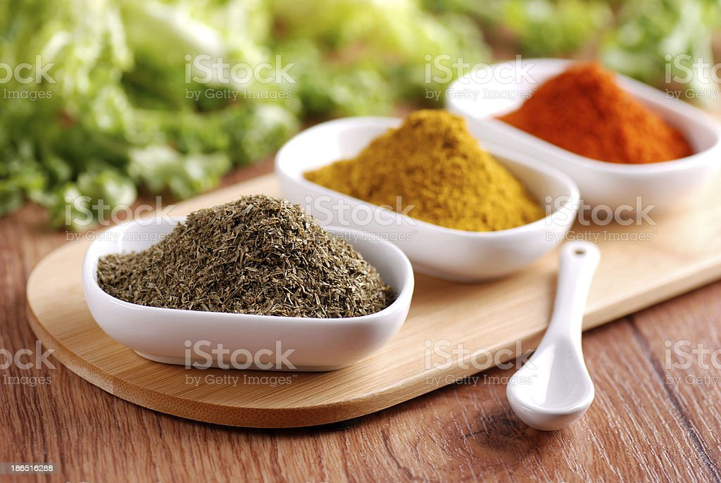 chives and other spices royalty-free stock photo