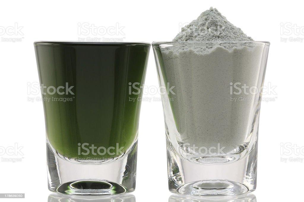 Chlorophyll Fine Powder stock photo
