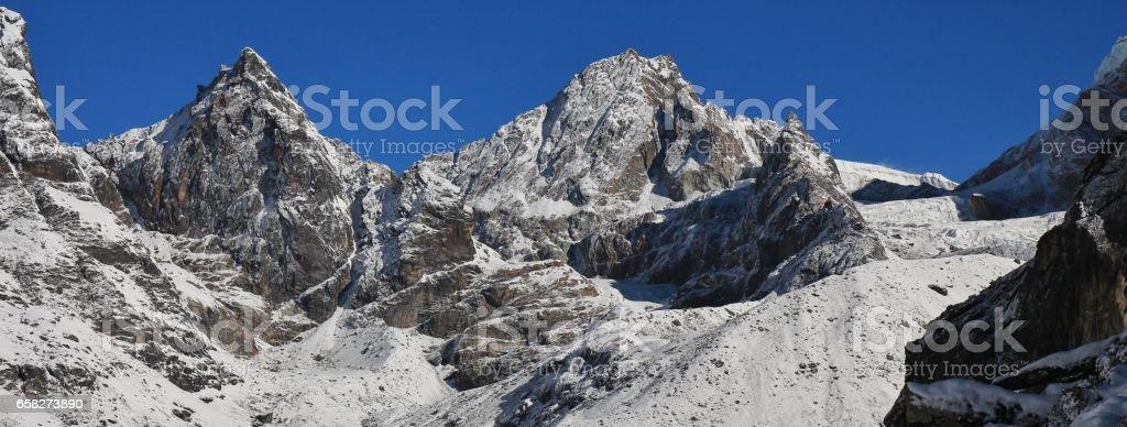 Cho La mountain pass stock photo