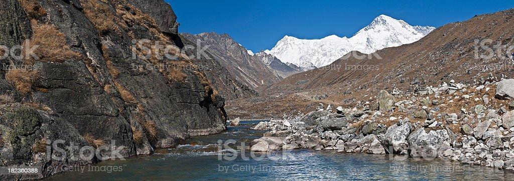 Cho Oyu 8153 m Himalaja-mountain-lake valley panorama Khumbu Nepal – Foto