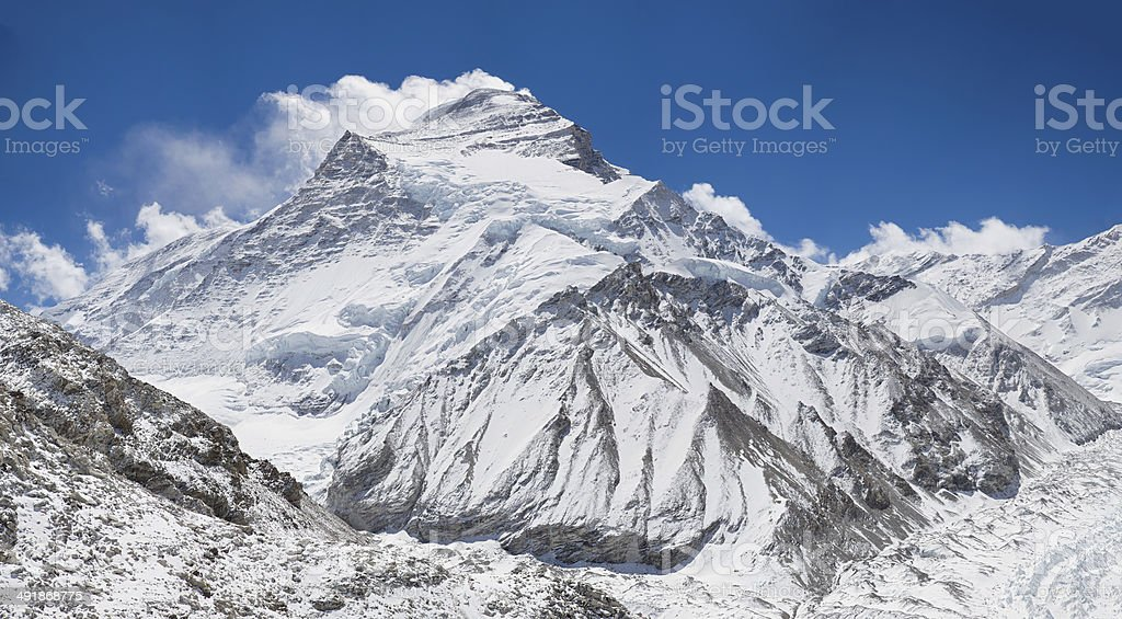 Cho Oyu, from Base Camp stock photo