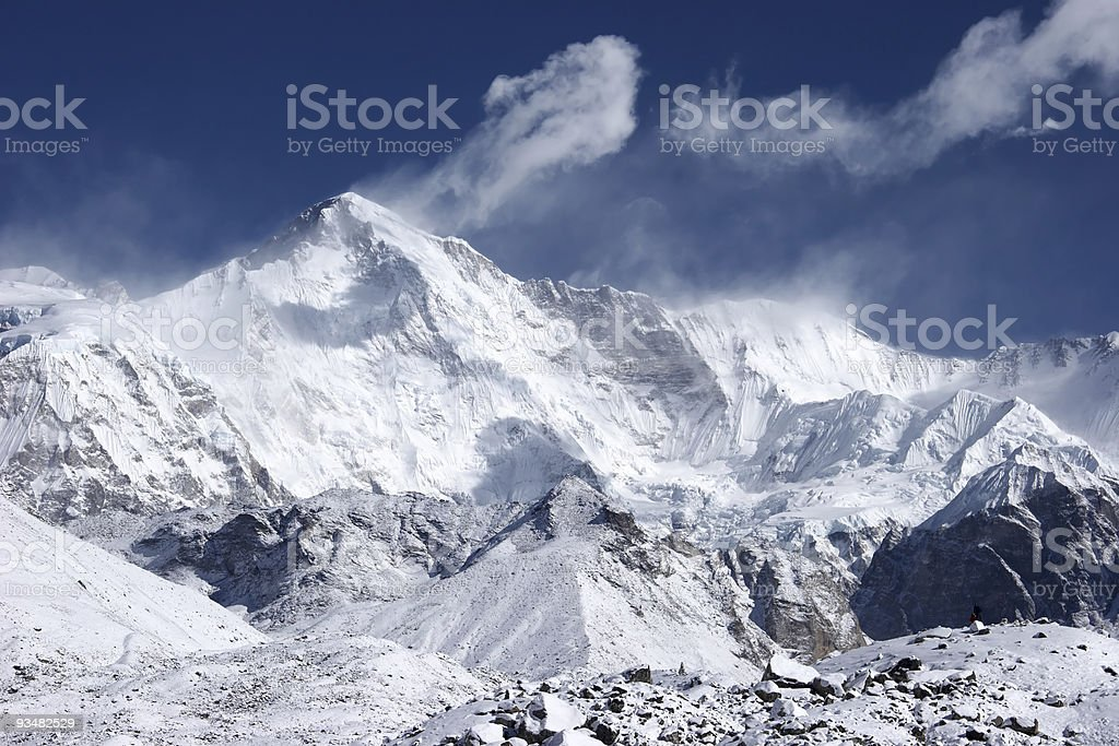 Cho Oyu, the 6th highest mountain in world, Himalaya royalty-free stock photo